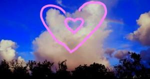 rainbow dove hearts baptist